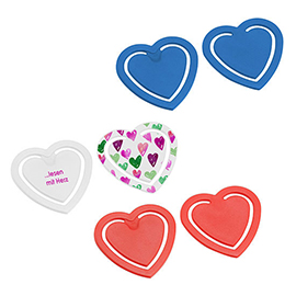 EXPRESS PRINT Paper clip, heart-shaped