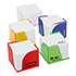 Memo block holder with 2 open corners